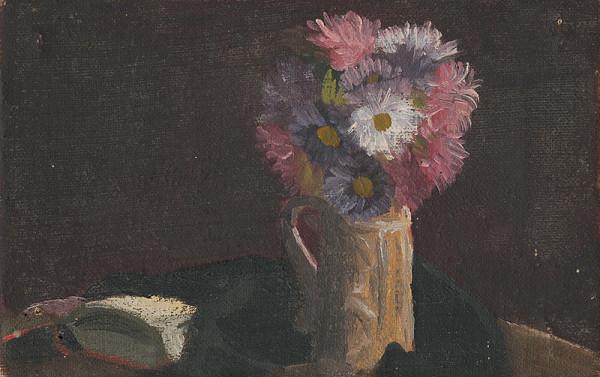 Mikuláš Galanda – Zátišie s kvetmi v krčahu