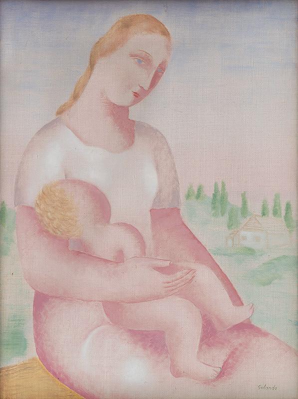 Mikuláš Galanda – Madona s dieťaťom
