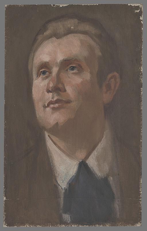 Milan Thomka Mitrovský – Portrét muža dívajúceho sa dohora