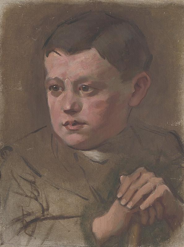 Milan Thomka Mitrovský – Portrét chlapčeka s palicou