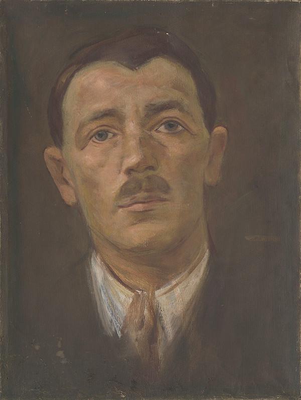 Milan Thomka Mitrovský – Portrét muža s fúzikmi