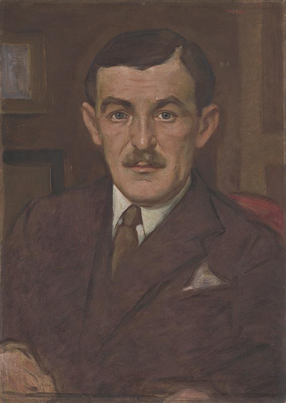 Milan Thomka Mitrovský – Portrét muža s fúzami