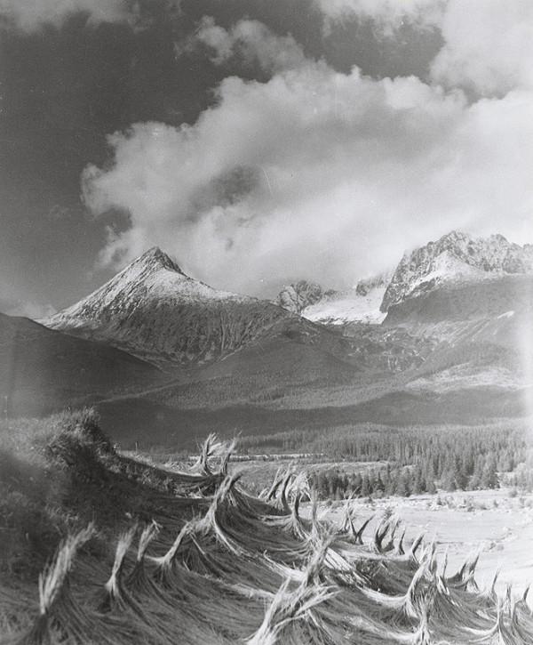 Karel Plicka – Vysoké Tatry-Sušenie ľanu, Štôla