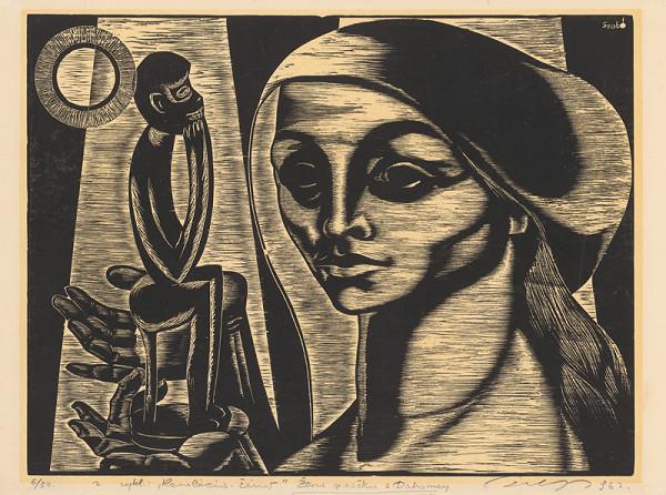 Július Szabó – Žena so soškou z Dahomey