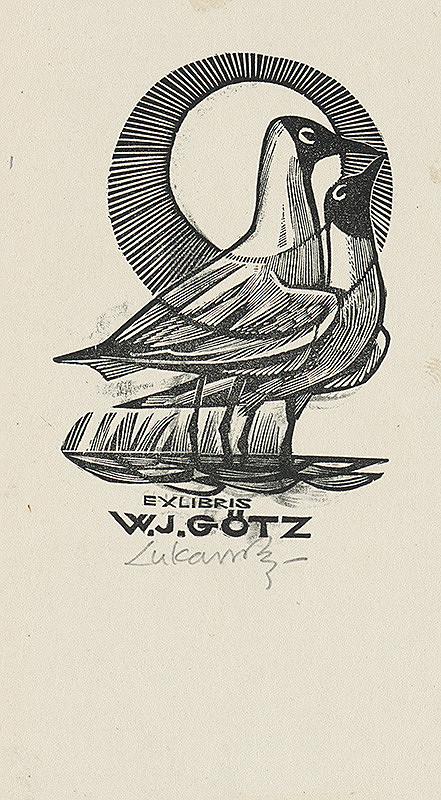 Jaroslav Lukavský – Ex libris W. J. Götz