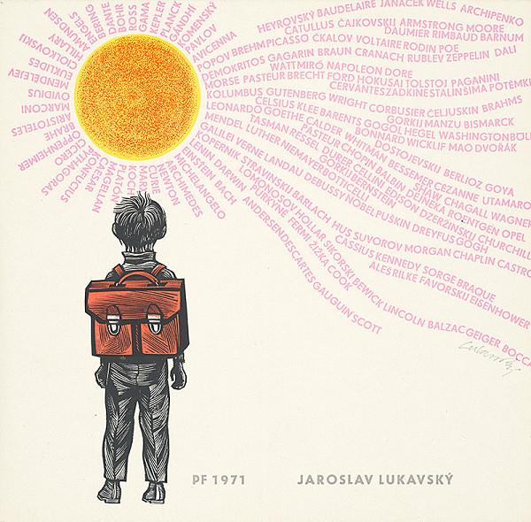 Jaroslav Lukavský – Vlastná novoročenka 1971