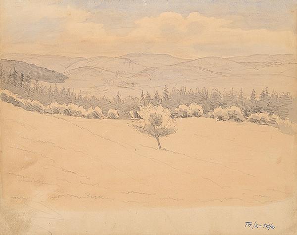Slovenský kresliar z 3. štvrtiny 19. storočia - Pri lese