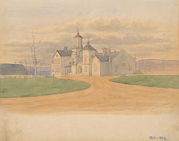 Slovenský kresliar z 3. štvrtiny 19. storočia – Komplex romantických budov s kostolom