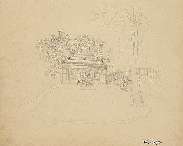 Slovenský kresliar z 3. štvrtiny 19. storočia – Domček v záhrade