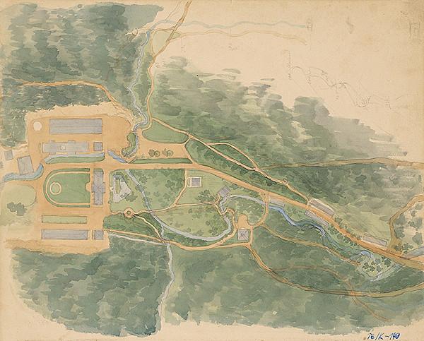 Slovenský kresliar z 3. štvrtiny 19. storočia - Plán kúpeľného mesta