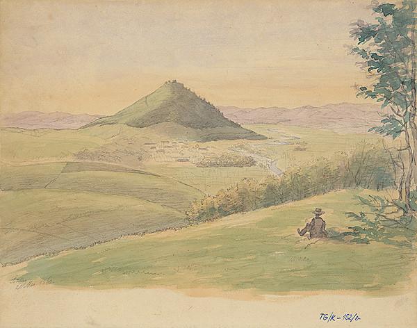 Slovenský kresliar z 3. štvrtiny 19. storočia - Krajina so Šarišskýmm hradom