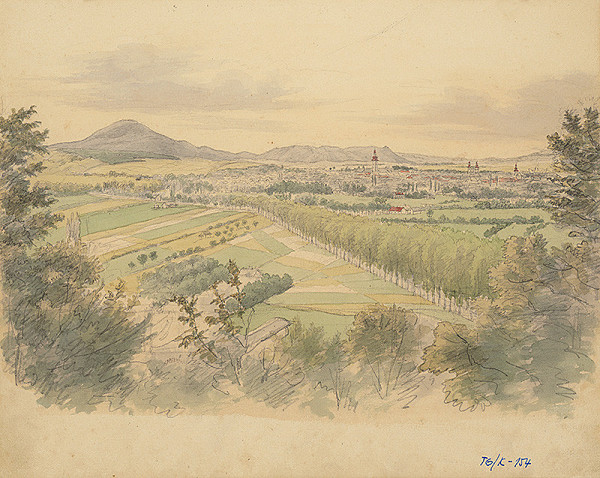 Slovenský kresliar z 3. štvrtiny 19. storočia - Panoráma Prešova