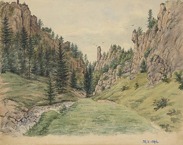 Slovenský kresliar z 3. štvrtiny 19. storočia - Lipovecký kaňon