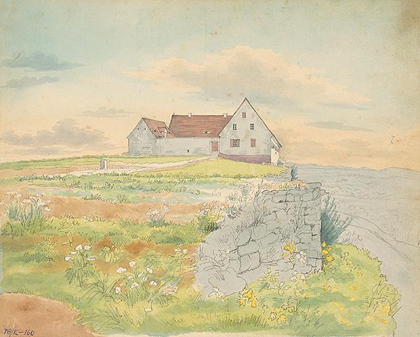 Slovenský kresliar z 3. štvrtiny 19. storočia - Dom na pobreží