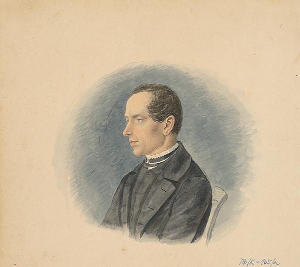 Slovenský kresliar z 3. štvrtiny 19. storočia – Portrét mladého muža