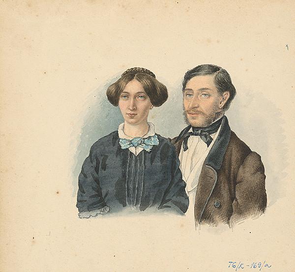 Slovenský kresliar z 3. štvrtiny 19. storočia – Dvojportrét manželského páru