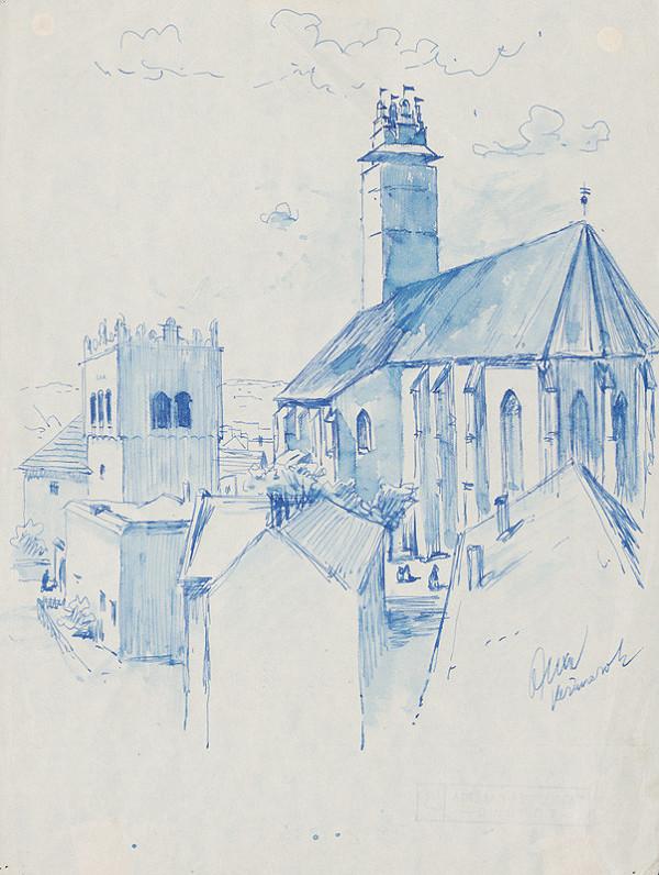 Josef Olexa – Kostol a zvonica v Kežmarku