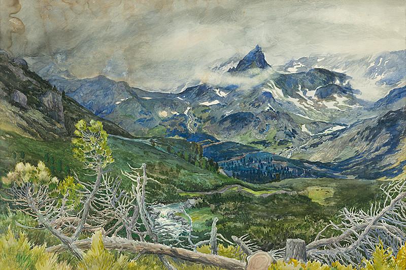 Otakar Štáfl – Mengusovská dolina, 1921, Tatranská galéria