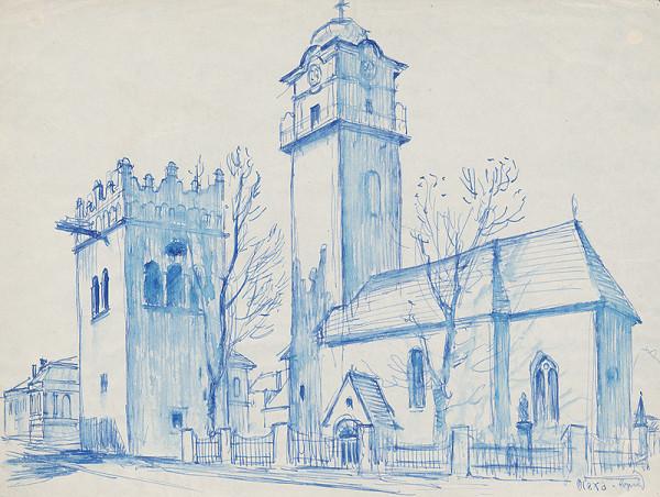 Josef Olexa - Kostol a zvonica v Poprade