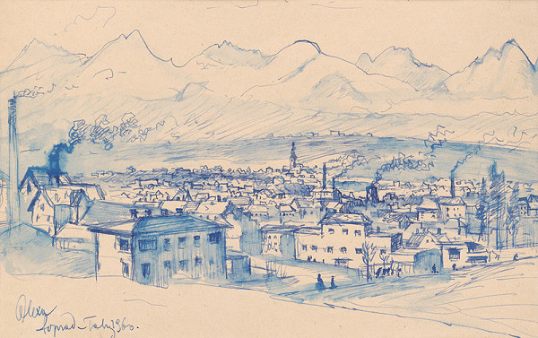 Josef Olexa – Pohľad na Poprad a Tatry