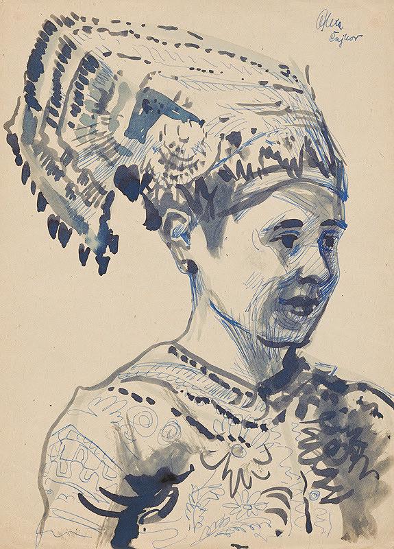 Josef Olexa – Žena v kroji z Čajkova