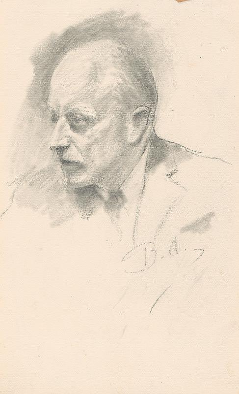 Andor Borúth - Portrét staršieho muža-A.Fuhrmann?