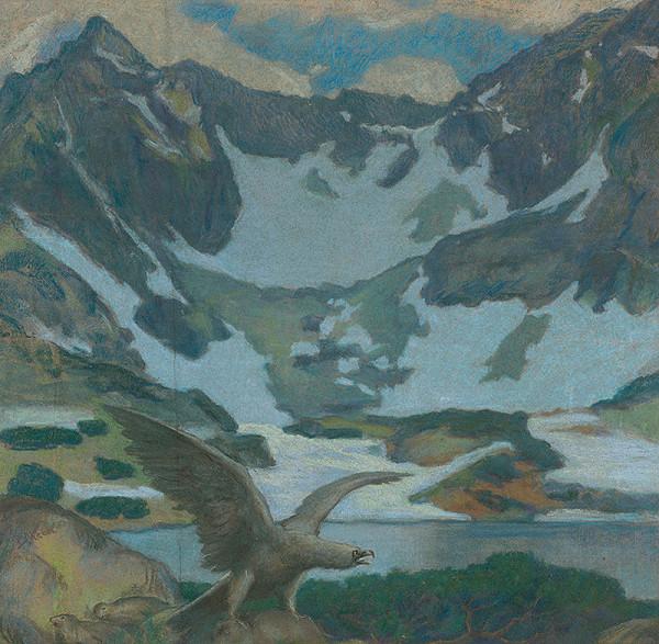 Peter Július Kern - Tatranská krajina s orlom
