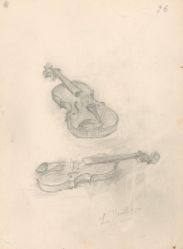 Andor Borúth – Dva náčrty huslí