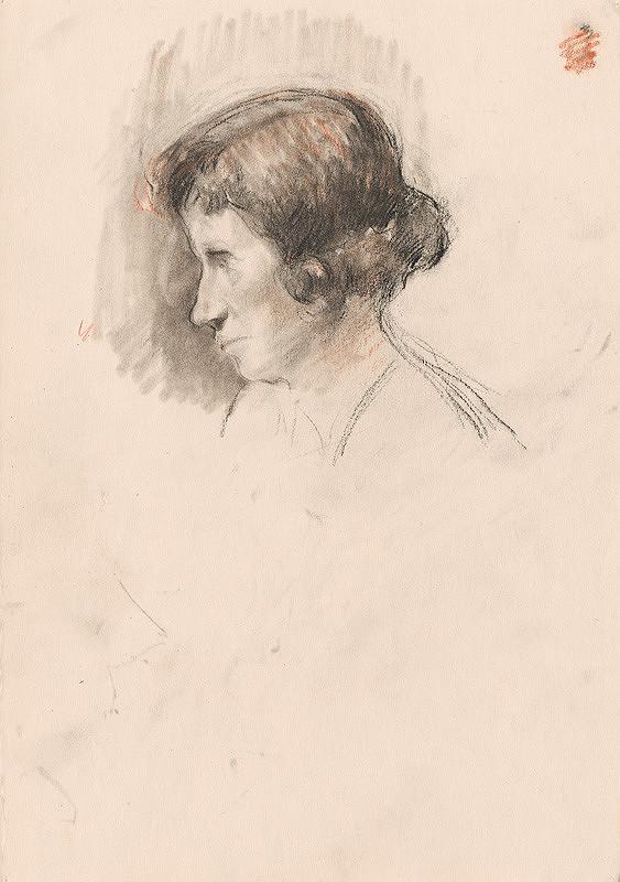 Andor Borúth - Hlava ženy z profilu