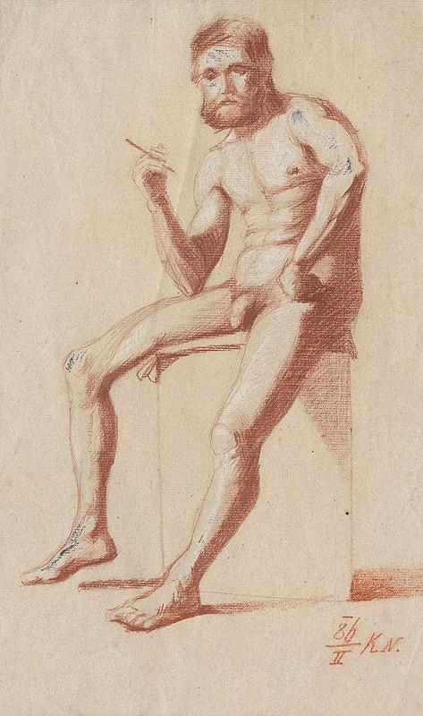 Ferdinand Katona – Sediaci mužský akt