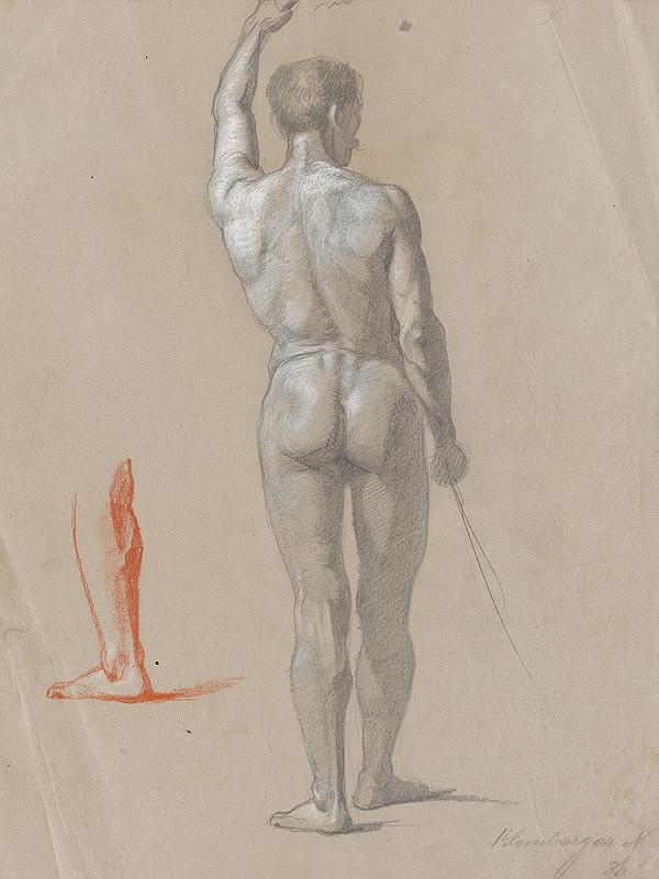 Ferdinand Katona – Stojaci mužský akt odzadu