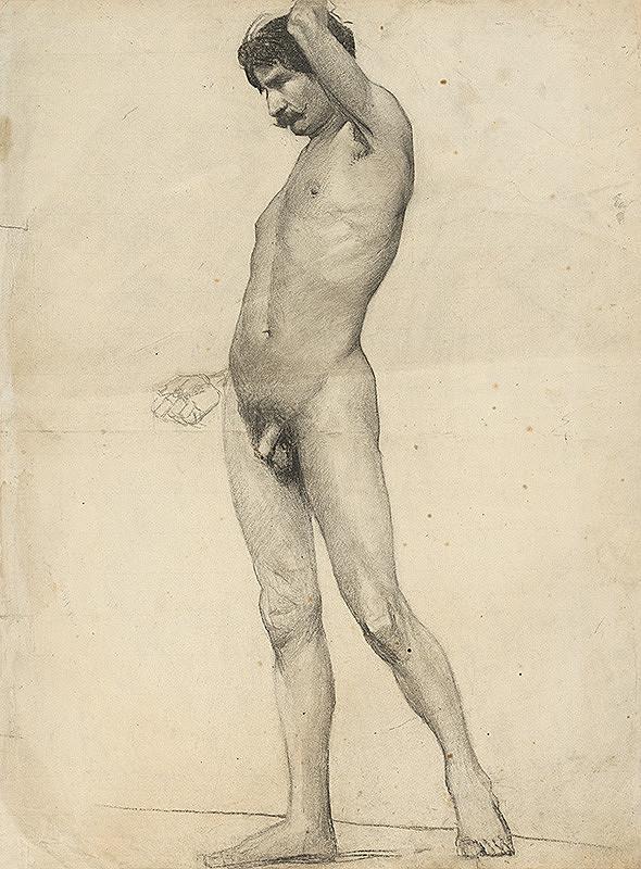 Ferdinand Katona – Stojaci mužský akt