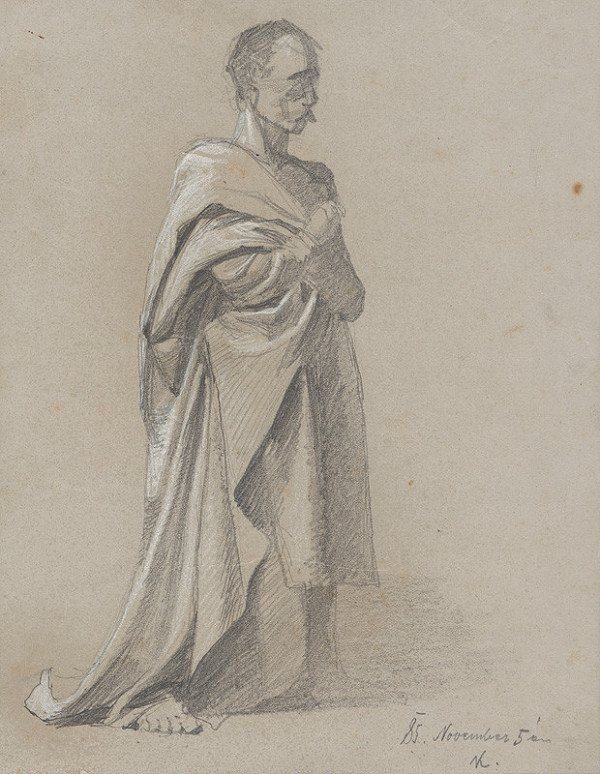 Ferdinand Katona – Stojaca mužská postava s drapériou