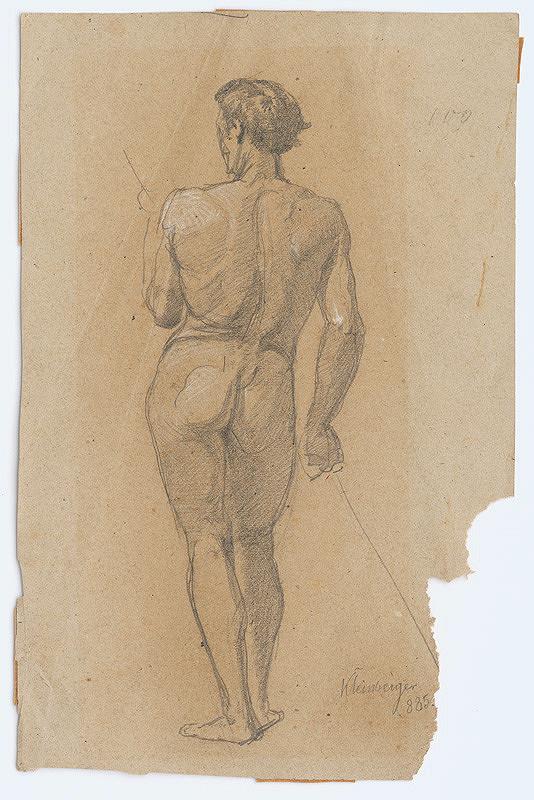 Ferdinand Katona – Mužský akt odzadu I.