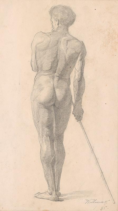 Ferdinand Katona – Mužský akt odzadu III.