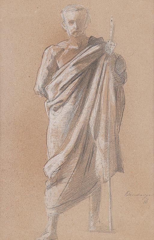 Ferdinand Katona – Mužská postava v drapérii s palicou