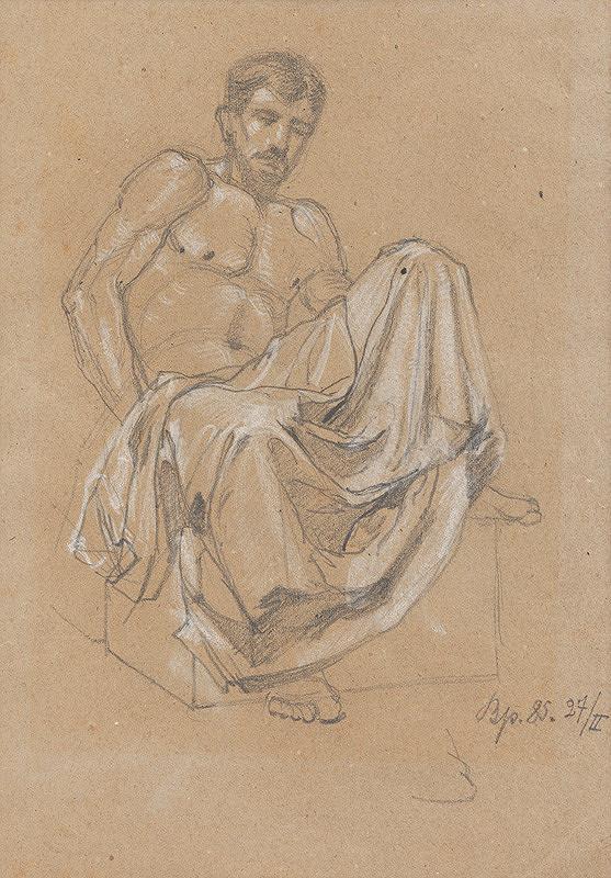 Ferdinand Katona - Sediaca mužská postava s drapériou