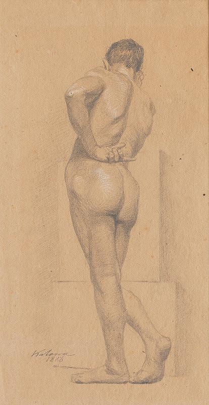 Ferdinand Katona – Stojaci mužský akt odzadu II.