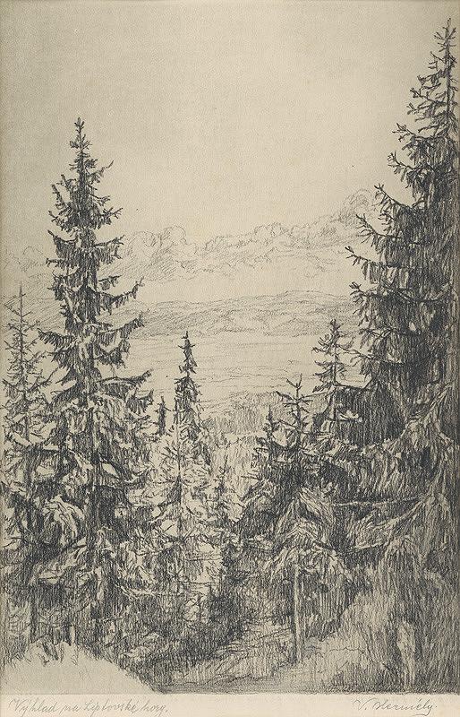 Viktor Hermély – Výhľad na Liptovské hory