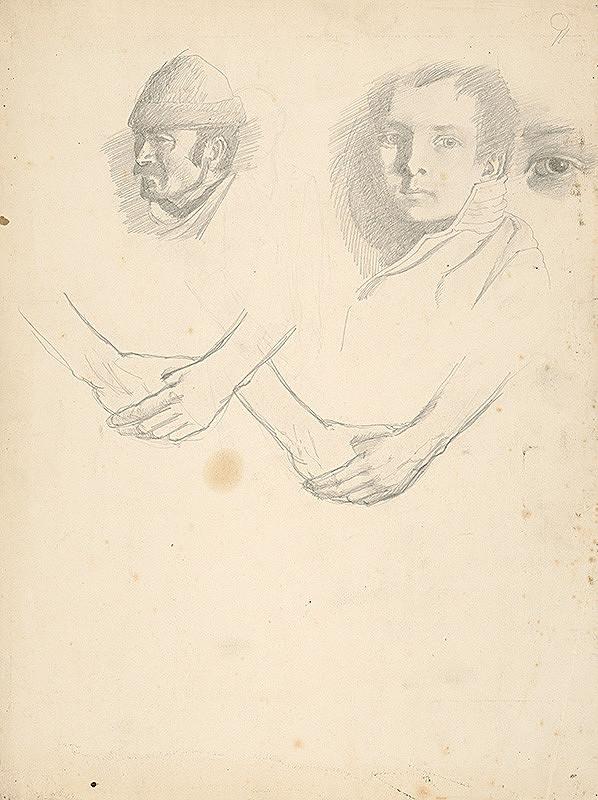 Ferdinand Katona – Náčrty hláv a rúk