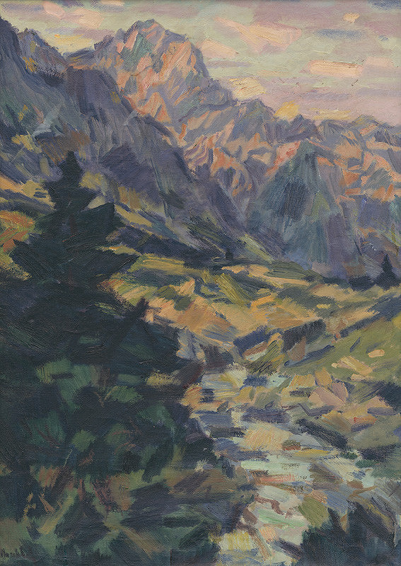 Gustáv Mallý – Potok pod Tatrami