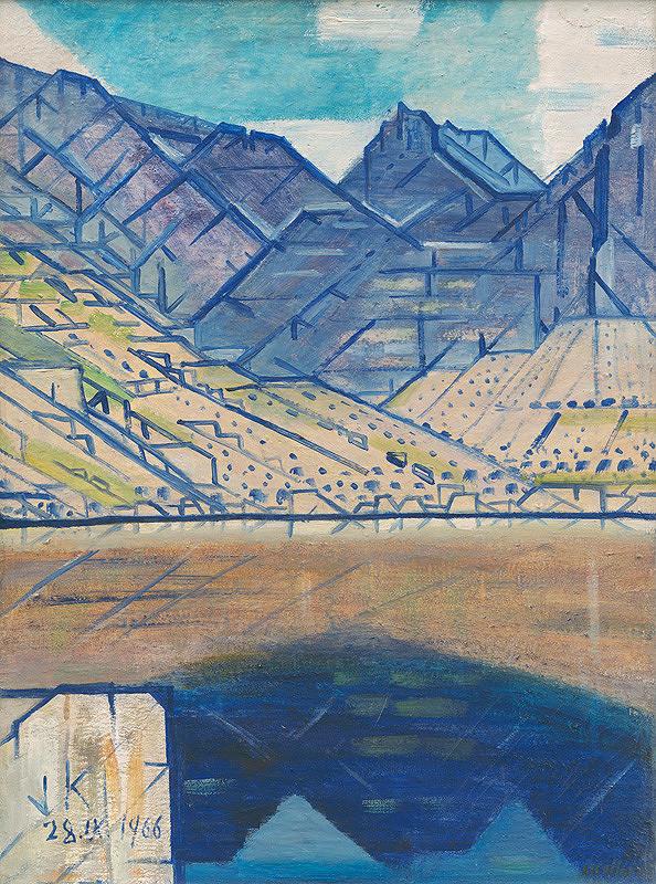 Július Koller – Jazero v horách