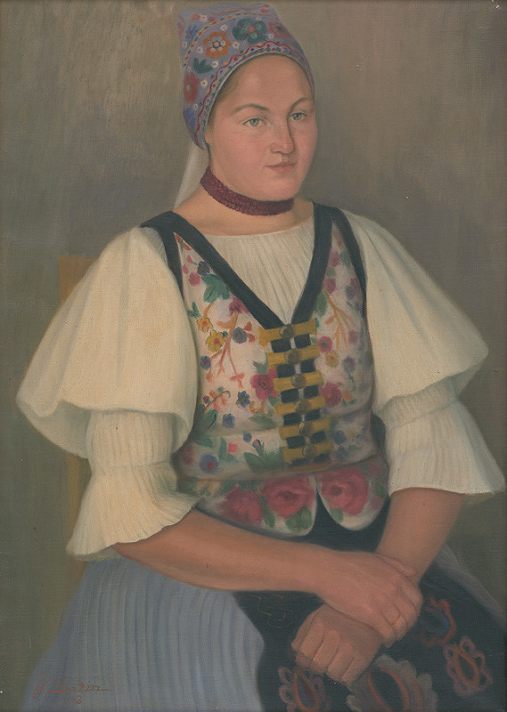 Jozef Satin – Dievča v kroji