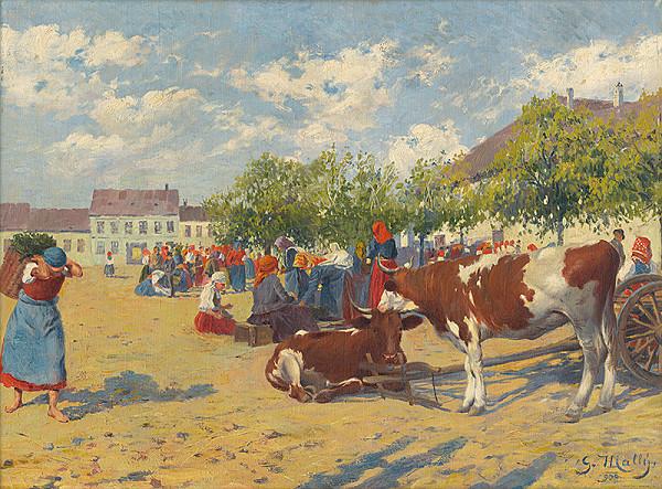 Gustáv Mallý – Trh v Pezinku