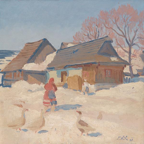 Jan Hála – Zima s husami