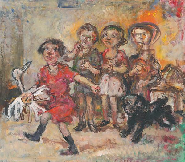 Július Jakoby - Hrajúce sa deti