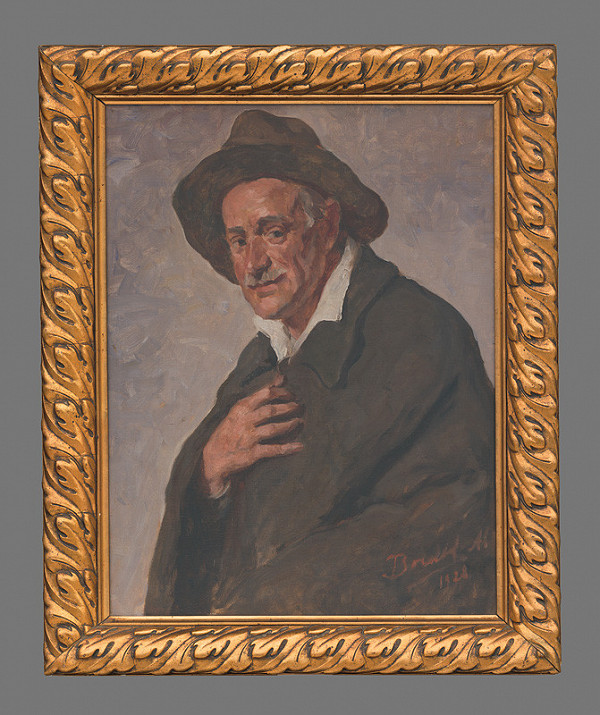 Andor Borúth - Podobizeň Andora Fuhrmanna v klobúku