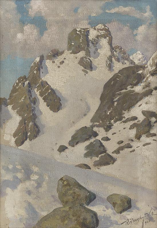 Elemír Köszeghy-Winkler - Zima v Tatrách