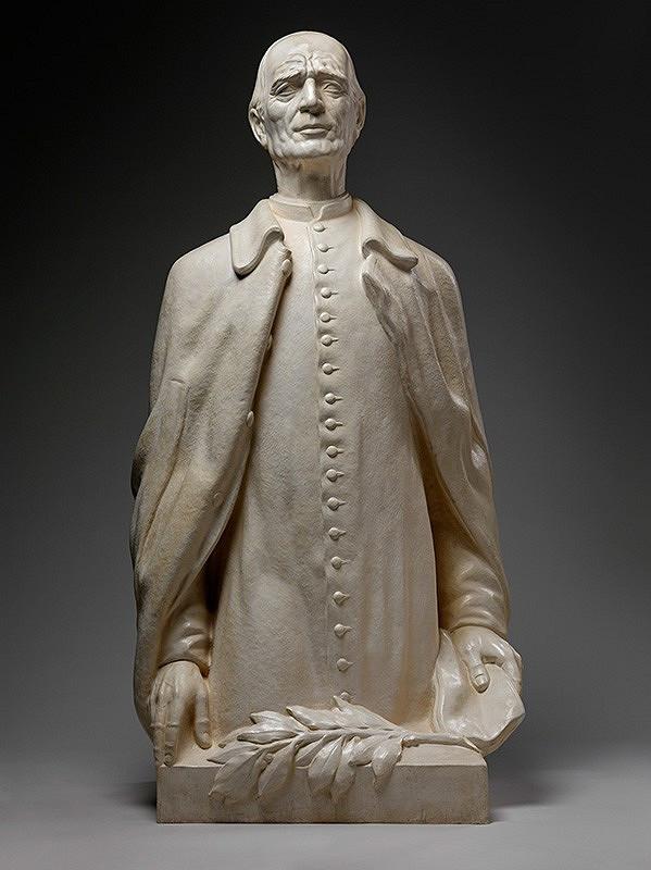 Fraňo Štefunko - Andrej Hlinka - model sochy pre Snem SR.