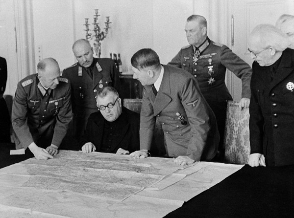 Neznámy autor - Prijatie prezidenta Jozefa Tisa Adolfom Hitlerom v Berlíne